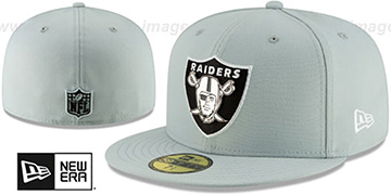 Raiders METAL-N-THREAD Grey Fitted Hat by New Era