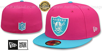 Raiders 'MIAMI VICE' Beetroot-Blue Fitted Hat by New Era