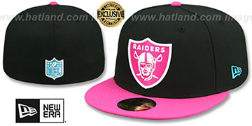 Raiders MIAMI VICE Black-Beetroot Fitted Hat by New Era