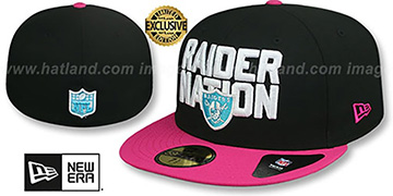 Raiders MIAMI VICE RAIDER-NATION Black-Beetroot Fitted Hat by New Era