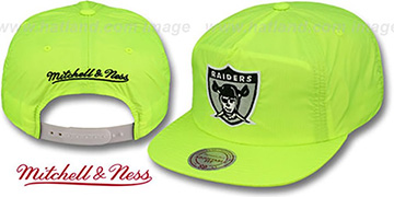 Raiders 'NEON CAMPER SNAPBACK' Lime Hat by Mitchell & Ness