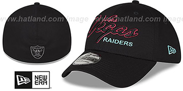 Raiders NEON SCRIPT FLEX Black Hat by New Era