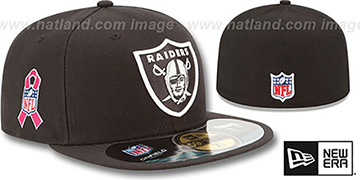 Raiders NFL BCA Black Fitted Hat by New Era