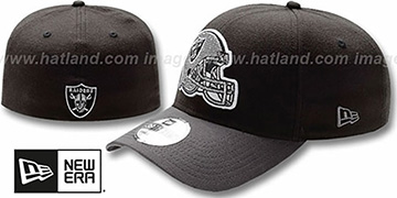 Raiders NFL BLACK-CLASSIC FLEX Hat by New Era