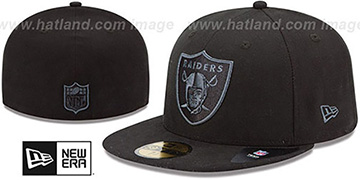 Raiders NFL FADEOUT-BASIC Black Fitted Hat by New Era