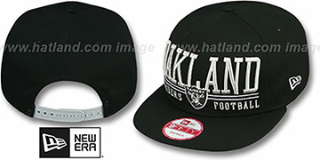 Raiders 'NFL LATERAL SNAPBACK' Black Hat by New Era