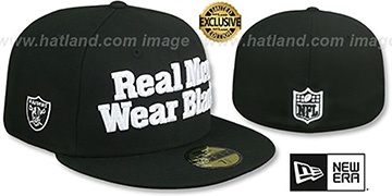 Raiders 'NFL REAL MEN' Black Fitted Hat by New Era