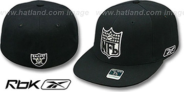 Raiders 'NFL-SHIELD' Black Fitted Hat by Reebok