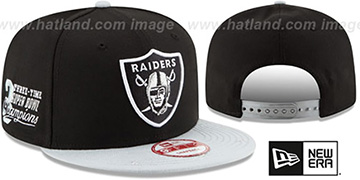 Raiders 'NFL STAR-TRIM SNAPBACK' Black-Grey Hat by New Era