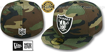Raiders NFL TEAM-BASIC Army Camo Fitted Hat by New Era