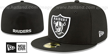 Raiders 'NFL TEAM-BASIC' Black Fitted Hat by New Era