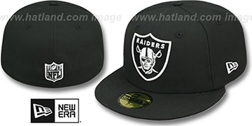 Raiders 'NFL TEAM-BASIC' Black-White Fitted Hat by New Era