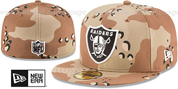 Raiders NFL TEAM-BASIC Desert Storm Camo Fitted Hat by New Era