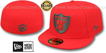 Raiders NFL TEAM-BASIC Fire Red-Charcoal Fitted Hat by New Era