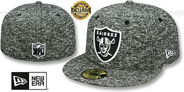 Raiders NFL TEAM-BASIC FRENCH TERRY Heather Black Fitted Hat by New Era
