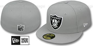 Raiders NFL TEAM-BASIC Grey-Black-White Fitted Hat by New Era