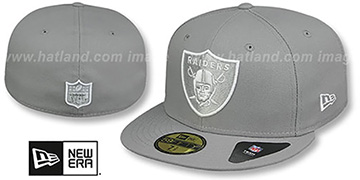 Raiders NFL TEAM-BASIC Grey-White Fitted Hat by New Era