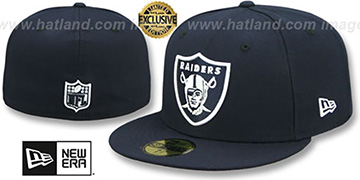 Raiders NFL TEAM-BASIC Navy-White Fitted Hat by New Era