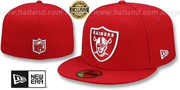 Raiders NFL TEAM-BASIC Red-White Fitted Hat by New Era