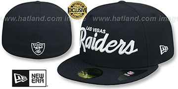 Raiders NFL TEAM-SCRIPT Navy Fitted Hat by New Era