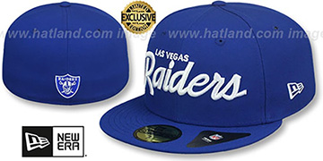 Raiders NFL TEAM-SCRIPT Royal Fitted Hat by New Era