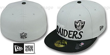 Raiders NFL-TIGHT Grey-Black Fitted Hat by New Era