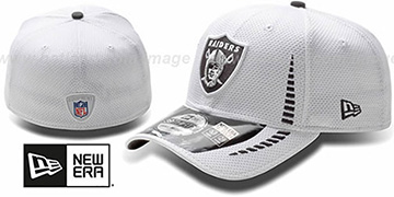 Raiders 'NFL TRAINING FLEX' White Hat by New Era