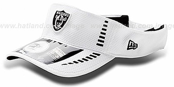 Raiders 'NFL TRAINING' White Visor by New Era