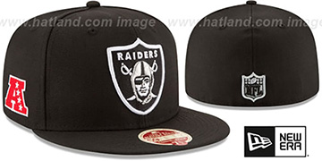 Raiders 'NFL WOOL-STANDARD' Black Fitted Hat by New Era