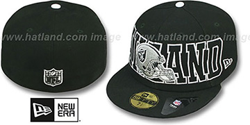 Raiders 'NFL WRAP-IT-UP' Black Fitted Hat by New Era