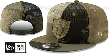 Raiders 'PATCHWORK PREMIUM SNAPBACK' Hat by New Era