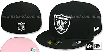 Raiders 'PINK-BOTTOM' Black Fitted Hat by New Era