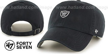 Raiders 'POLO STRAPBACK' Black Hat by Twins 47 Brand
