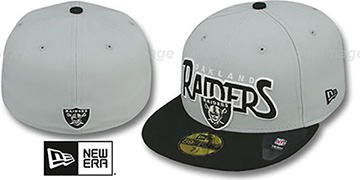 Raiders 'PROFILIN' Grey-Black Fitted Hat by New Era