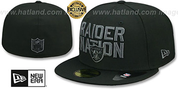 Raiders RAIDER-NATION FADEOUT Fitted Hat by New Era