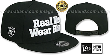Raiders 'REAL MEN TEAM-BASIC SNAPBACK' Black Hat by New Era