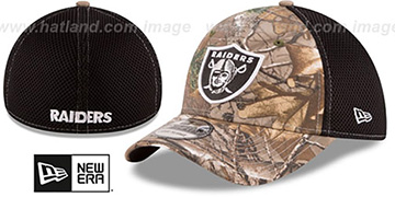Raiders 'REALTREE NEO MESH-BACK' Flex Hat by New Era