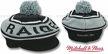 Raiders 'RERUN KNIT BEANIE' by Mitchell and Ness