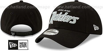 Raiders RETRO-SCRIPT SNAPBACK Black Hat by New Era