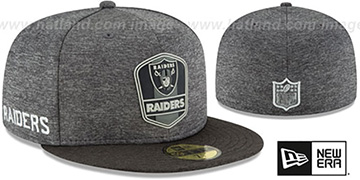 Raiders ROAD ONFIELD STADIUM Charcoal-Black Fitted Hat by New Era