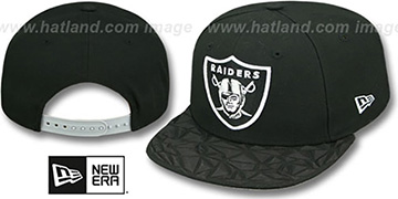 Raiders 'RUBBER MATTE SNAPBACK' Black Hat by New Era