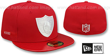 Raiders 'RETRO-HOOK' Red-White Fitted Hat by New Era
