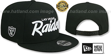 Raiders SCRIPT TEAM-BASIC SNAPBACK Black Hat by New Era