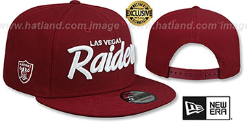 Raiders SCRIPT TEAM-BASIC SNAPBACK Burgundy Hat by New Era