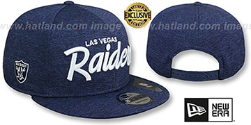 Raiders SCRIPT TEAM-BASIC SNAPBACK Light Navy ST Hat by New Era