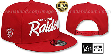 Raiders SCRIPT TEAM-BASIC SNAPBACK Red Hat by New Era