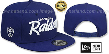 Raiders SCRIPT TEAM-BASIC SNAPBACK Royal Hat by New Era