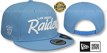 Raiders SCRIPT TEAM-BASIC SNAPBACK Sky Hat by New Era