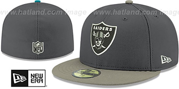 Raiders 'SHADER MELT-2' Grey-Grey Fitted Hat by New Era