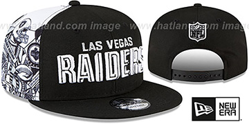 Raiders 'SIDE-CARD SNAPBACK' Black Hat by New Era